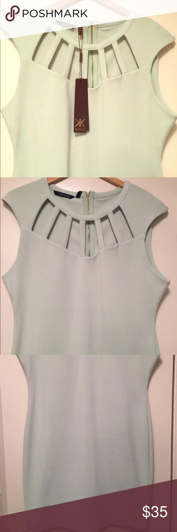 NWT Mint Kardashian Kollection Dress Mint colored, cage neckline. Never worn. Kardashian Kollection Dresses