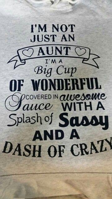 This is me. Crazy Auntie M!