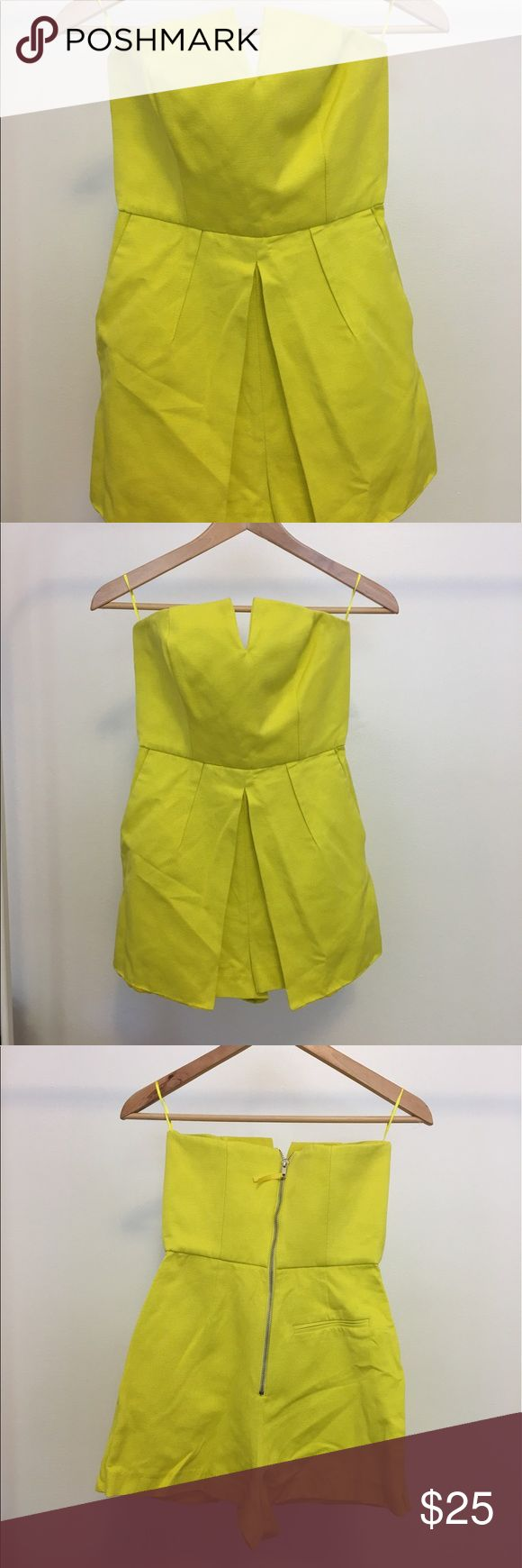 Top shop neon yellow playsuit Classy look playsuit with pockets and zip on the back Topshop Other