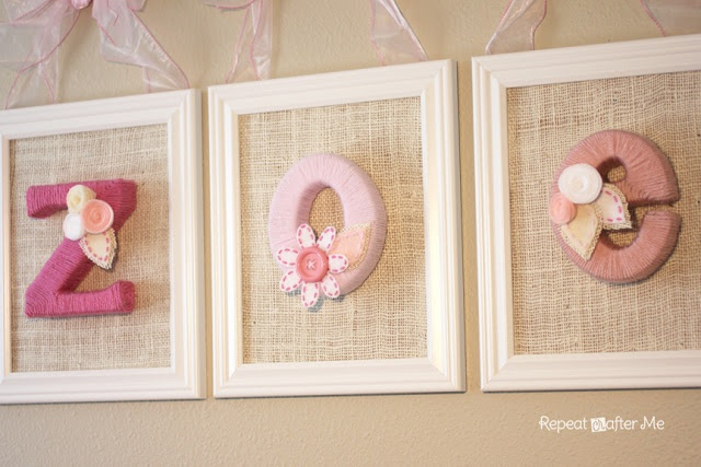 DIY Yarn Wrapped Letters for Baby's Room.... Oh yes... this will be happening. I love love love these.