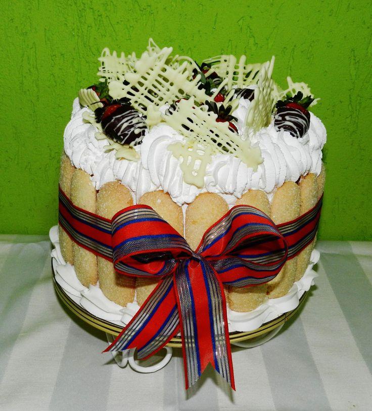 Torta de Morango - Edilza