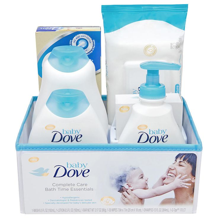The best gift set for a newborn baby should include everything parent needs to keep their baby's skin clean and moisturized, all from a brand they can trust. Baby Dove Complete Care Bath Time Essentials Gift Set is the full package of Baby Dove's wash, shampoo, lotion, bar, wipes and more. Whether you're looking for a beautiful baby shower gift or a special surprise for a first-time parent, Baby Dove gift set includes products they will love to use during bathtime. Includes Baby D...