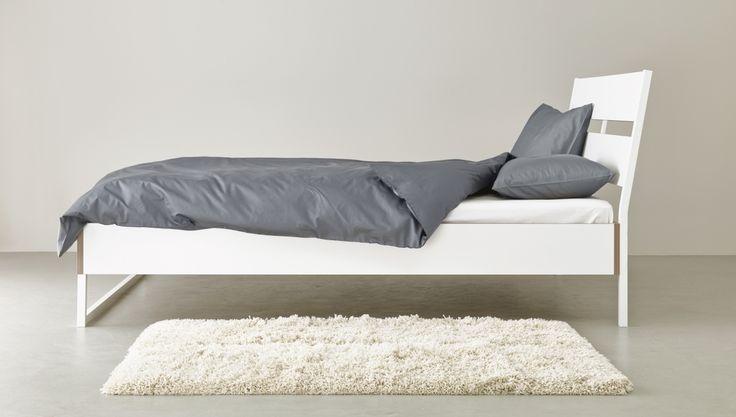 TRYSIL bedframe | WIN! Stel jouw favoriete slaap- en badkamer samen. Het mooiste bord laten we tot leven komen in IKEA Amsterdam. De winnaar wint ook een IKEA cadeaupas t.w.v. 2.500.-! #IKEAcatalogus