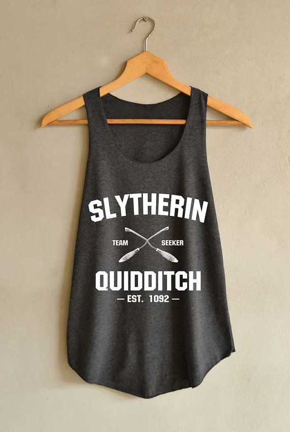 Slytherin Quidditch Shirt Harry Potter Tank Top от blackpearlmaker