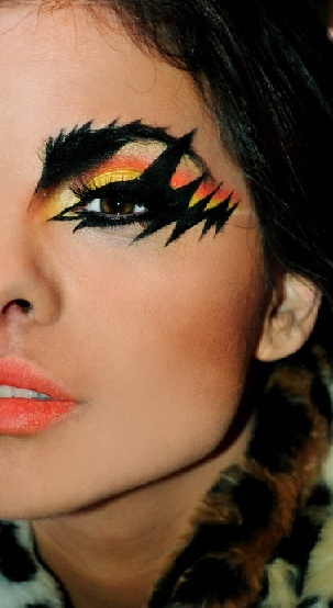 lightening bolts..awesome for halloween or 80s night!