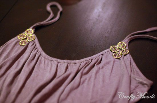 Embellish Your Cheap Tank Tops With Your Own Jewelry!