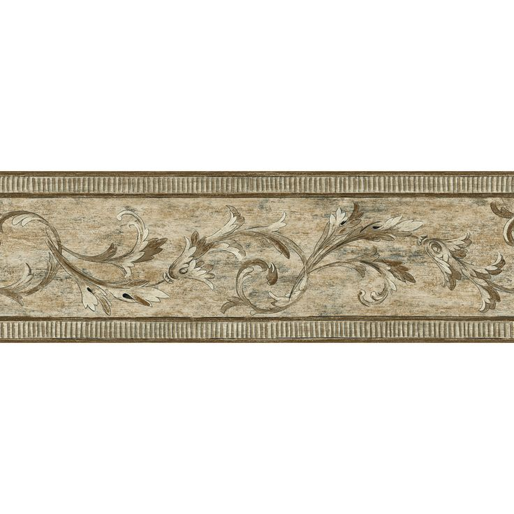 """allen + roth 7"""" Brown Architectural Scroll Prepasted"""
