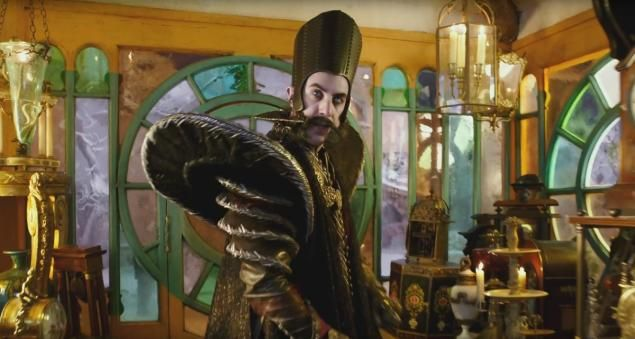 """Sacha Baron Cohen plays the villainous Time in """"Alice Through the Looking Glass."""""""