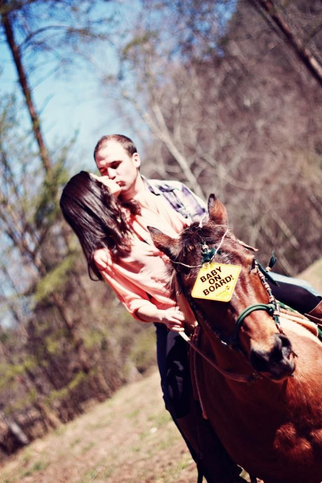 Our pregnancy announcement! Love my horse :)