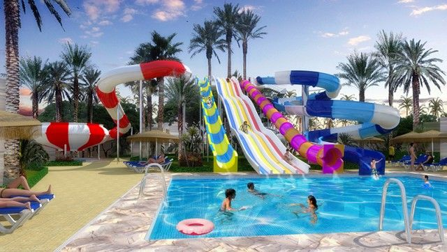 Hotel Con Niños Playa Senator Rainbow Pools Swimming Pool Designs Backyard Fun