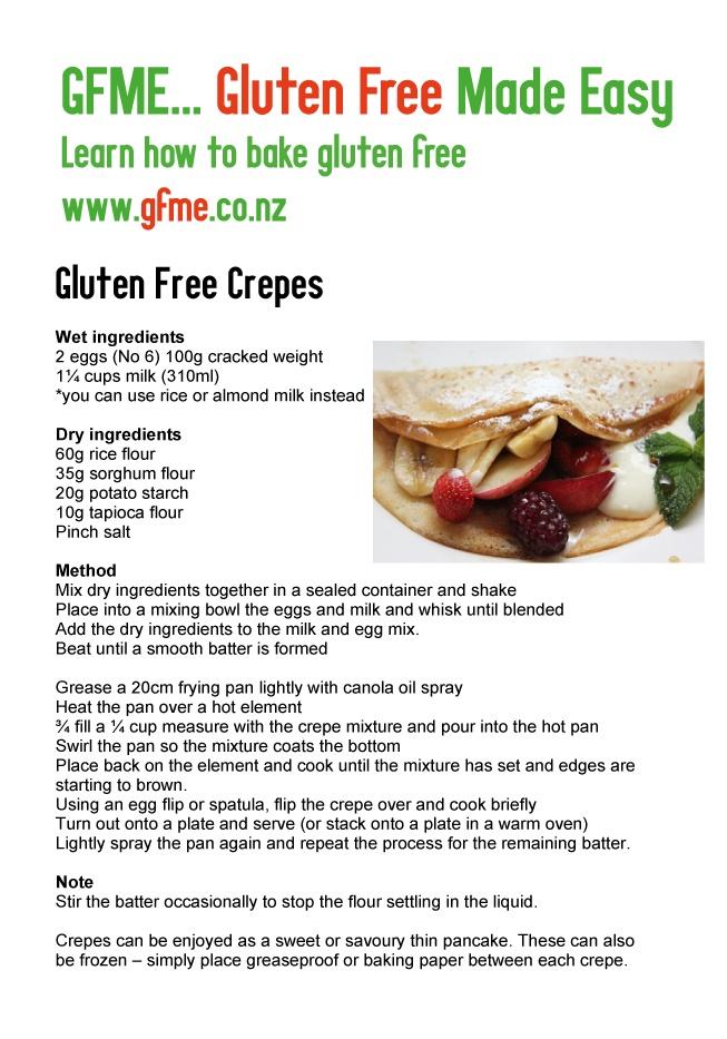 Gluten Free Crepes. www.gfme.co.nz