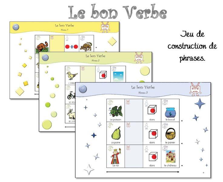 Jeux: utiliser les imagiers pour apprendre et comprendre la construction des phrases. MS-GS-CP