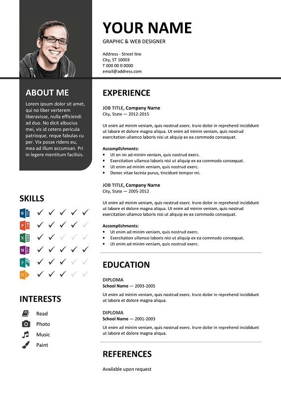 32 best Resume \/ CV templates images on Pinterest - free cv template microsoft word