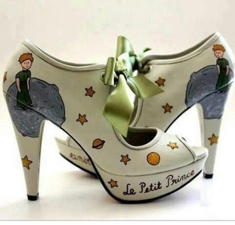 """""""Le Petit Prince"""" shoes, inspired by  the classic French book of the same name, by Antoine de St Exupéri..."""