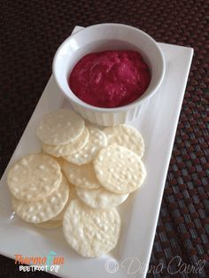 ThermoFun - Beetroot and Cashew Dip Recipe - ThermoFun | making decadent food at home |