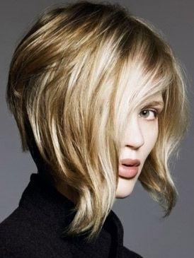 Asymetric bob, this might be the direction I am going..... // #blonde_hair #short_hair #straight_hair #hair #hairstyle #cute