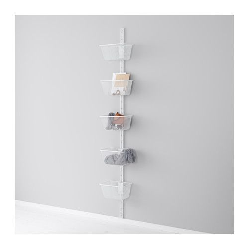 IKEA - ALGOT, Wall upright/basket. For wall where sliding door is - sit next to outside light switch