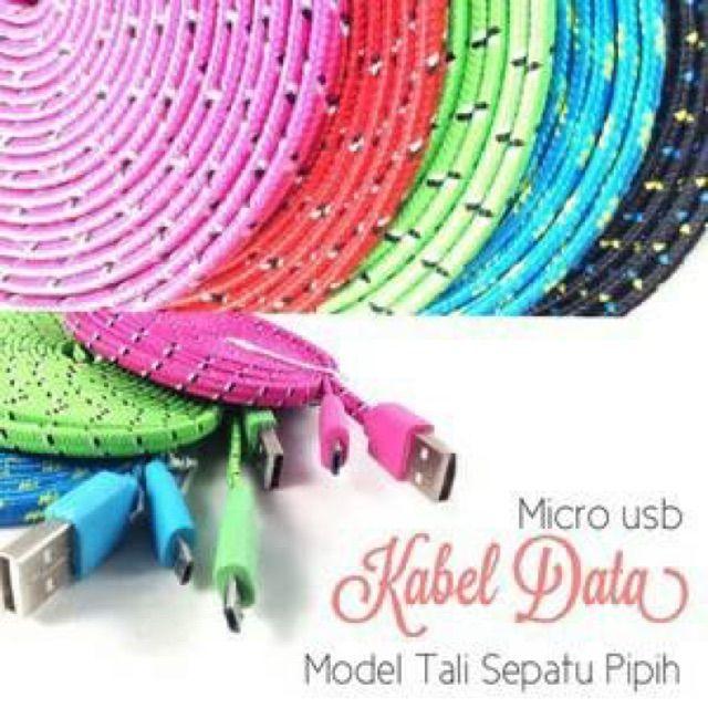 Temukan dan dapatkan Kabel USB Model Tali  Sepatu Warna Warni Bentuk Pipih hanya Rp 25.000 di Shopee sekarang juga! #ShopeeID