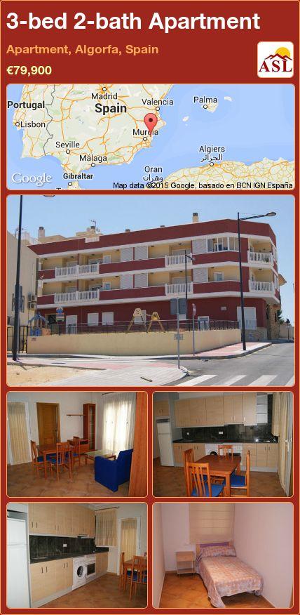 3-bed 2-bath Apartment in Apartment, Algorfa, Spain ►€79,900 #PropertyForSaleInSpain