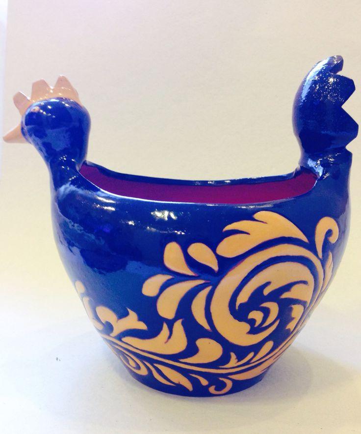 Cachepot cerâmica Corda-seca