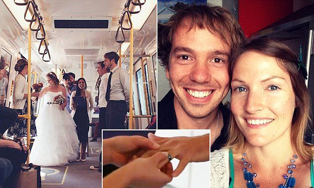A Perth couple have married in a surprise wedding on a train