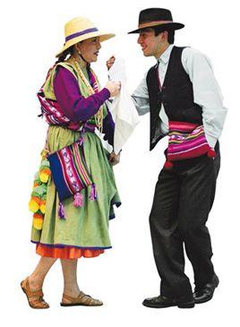 Trajes típicos del norte de Chile.  Another version of the National Dance, the Cueca