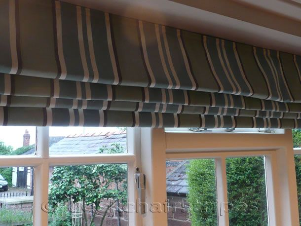 Teal Roman Blind up to 240 cm width ... beautifully made to measure bespoke to each client..  http://www.thestripescompany.com/shop/Roman-Blinds