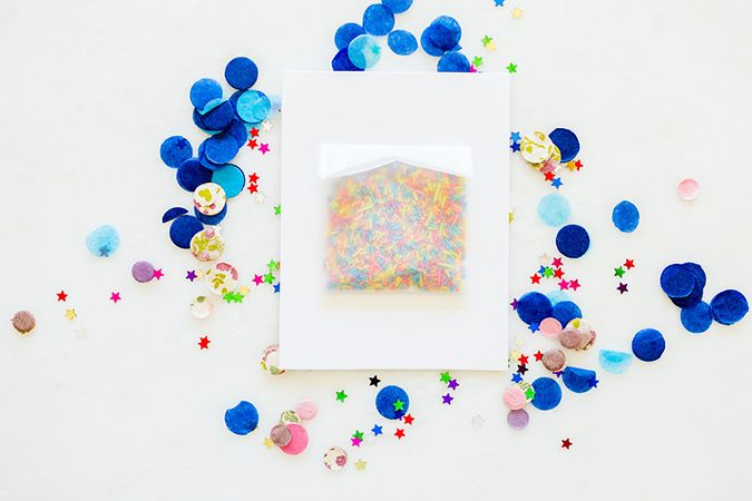 DIY Confetti birthday cards