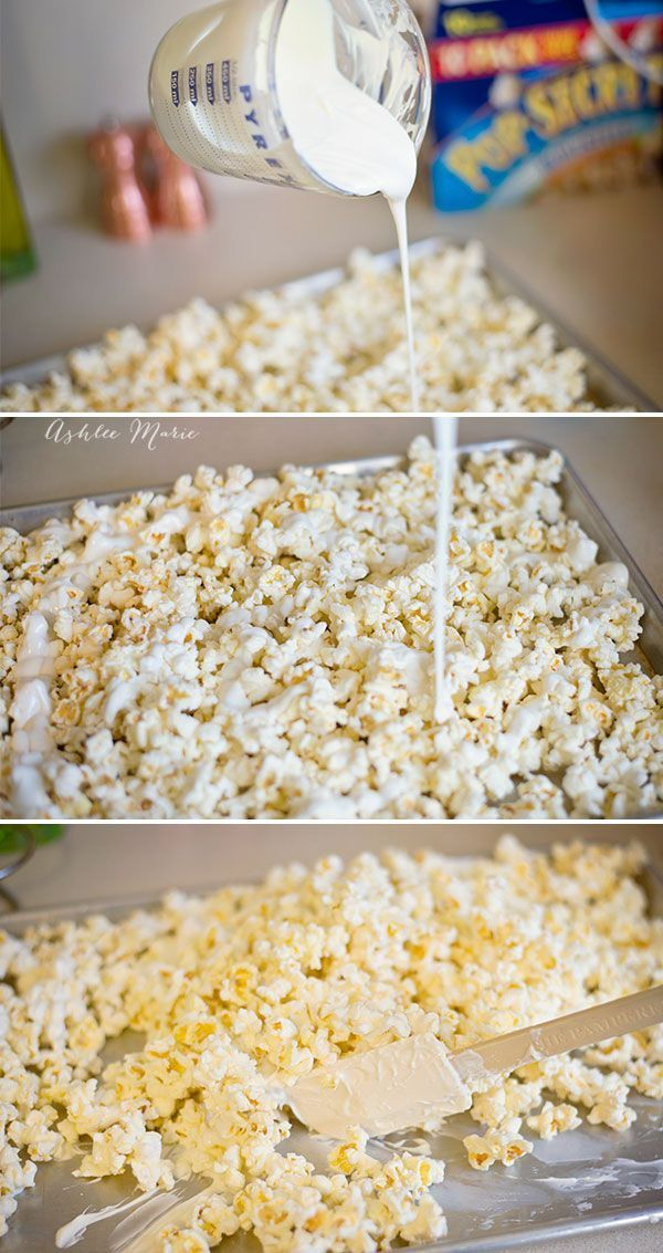 candy popcorn is so easy to make and is totally addictive