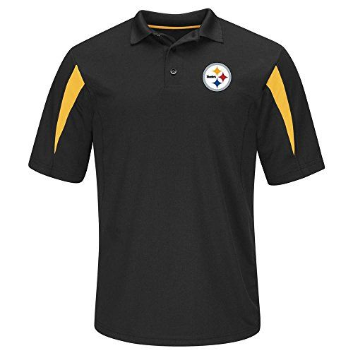 Pittsburgh Steelers Adult X-Large XL STREAK Performance Playoff Edition Polo Shirt - Black & Gold  https://allstarsportsfan.com/product/pittsburgh-steelers-adult-x-large-xl-streak-performance-playoff-edition-polo-shirt-black-gold/  Pittsburgh Steelers Adult X-Large XL Streak Performance Playoff Edition Polo Shirt This Polo Has Team Logo On Left Chest This Shirt Is Black w/ Team Gold Color Accent