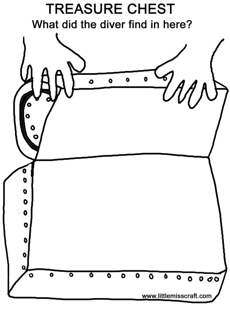 17 best images about treasure chest on pinterest recipe for Pirate treasure chest coloring page