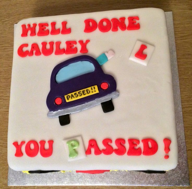 Passed driving test cake