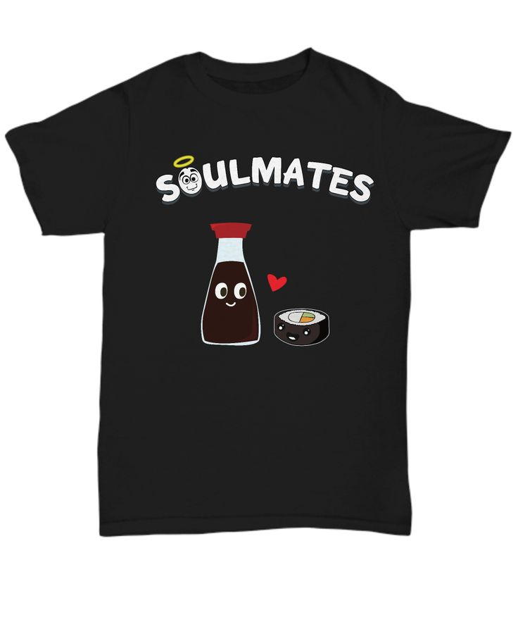 "They're adorable, they're delicious, and they're soulmates! Get this cute ""Soy And Sushi"" design for your bae or buy it for yourself."