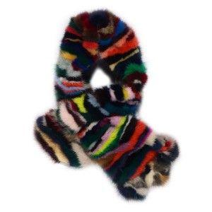 Cuello bufanda visón multicolor www.sanci.es