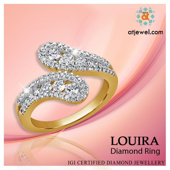 Design Of The Day..... ATJewel Presents a Beautiful Stylish Diamond Ring Just For.Choose Your Perfect Ring at Best Style.Shop Now #ATJewel #Diamonds #Gold #Ring #Stylish  http://bit.ly/2iYJBgD