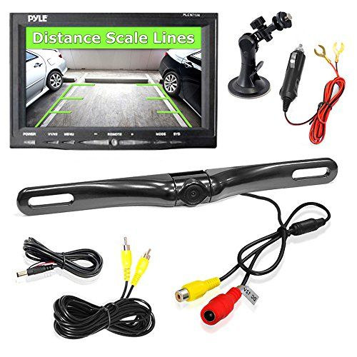 Pyle PLCM7500 Car Vehicle Backup Camera & Monitor Parking Assistance System, Waterproof, Night Vision, 7'' Display, Distance Scale Lines, Swivel Adjustable Camera Pyle http://www.amazon.com/dp/B009RIK3EO/ref=cm_sw_r_pi_dp_Pb9Pvb11QRV95