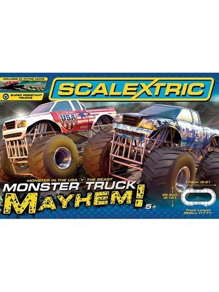 Scalextric Monster Truck Mayhem - nu kan du køre med monster trucks på racerbanen