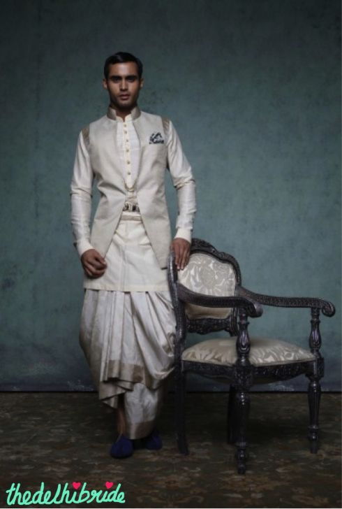 cool nehru jacket + dhoti look