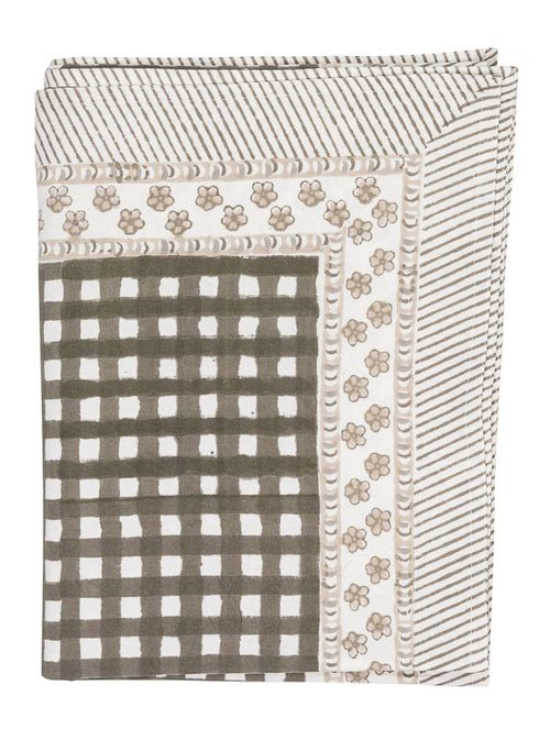"Tablecloth - Check - Brown - 60"""" x 92"""""