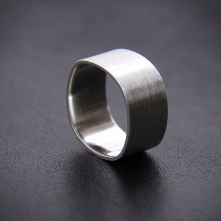 """Wide sterling silver - """"Duality Ring"""". $44.20, via Etsy."""