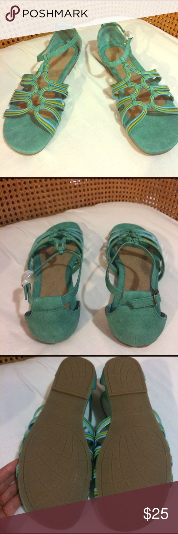 NEW in Box Bella Vita Teal Sandals Size 12 WW Brand New in box wrapped and never worn size 12 WW Bella Vita Shoes Sandals