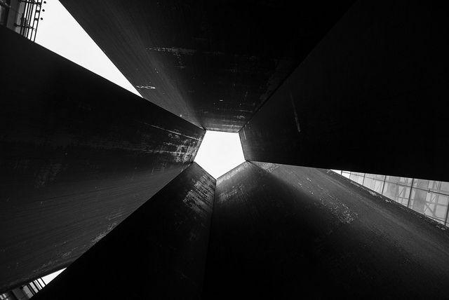 #pentagonal #metal #monument close to #liverpoolstreetstation in london