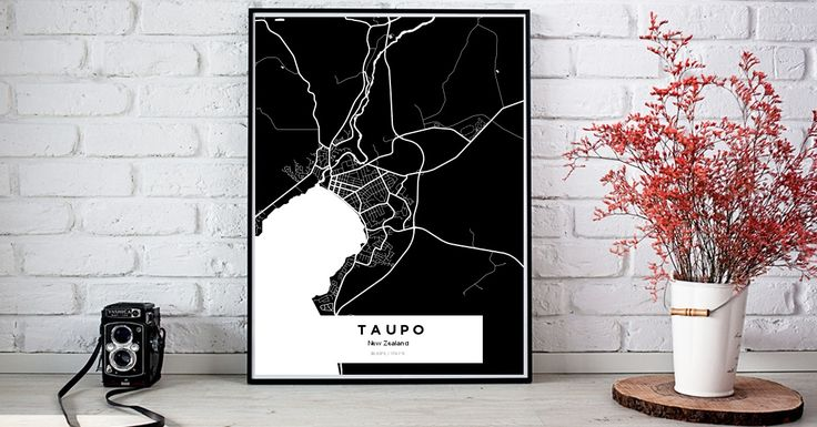 TaupoTaupoTaupo | Custom Map Maker – Make Your Own Map Poster Online - YourOwnMaps