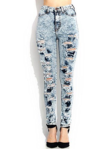HighWaisted Acid Wash Jeans >>> To view further for this item, visit the image link.