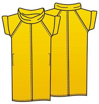 """Выкройка платья из трикотажа для полных с карманами и воротником """"хомут"""""""