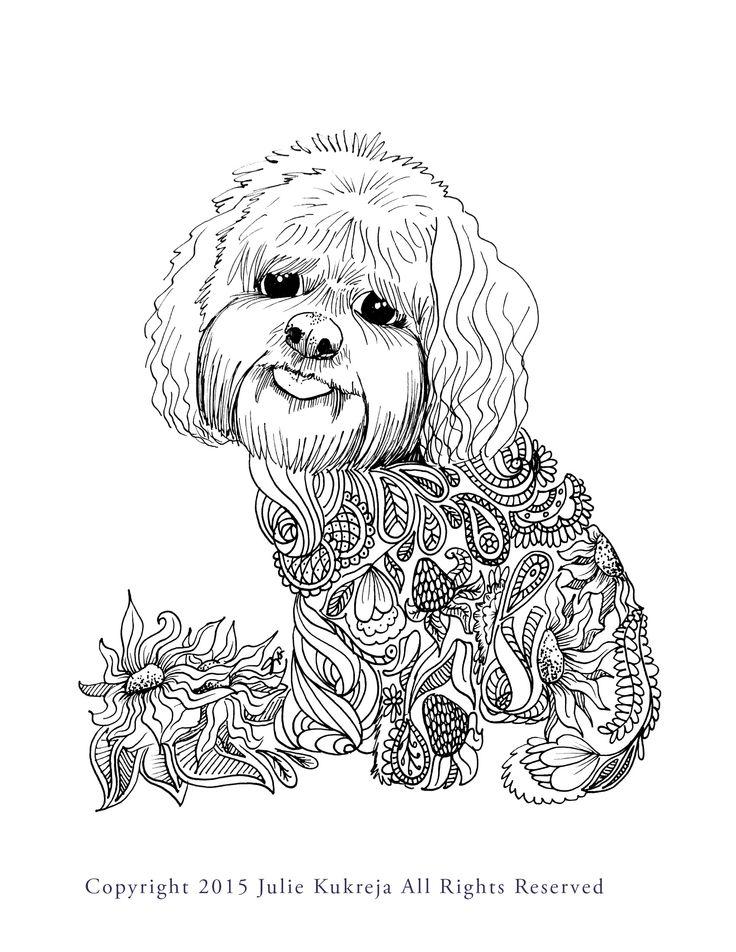 12 best Custom Coloring Book Pet Portraits images on Pinterest ...