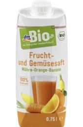 Frucht- und Gemüsesaft Möhre-Orange-Banane
