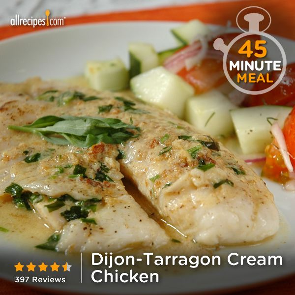 "Dijon-Tarragon Cream Chicken | ""Love this recipe for how simple (EASY ..."