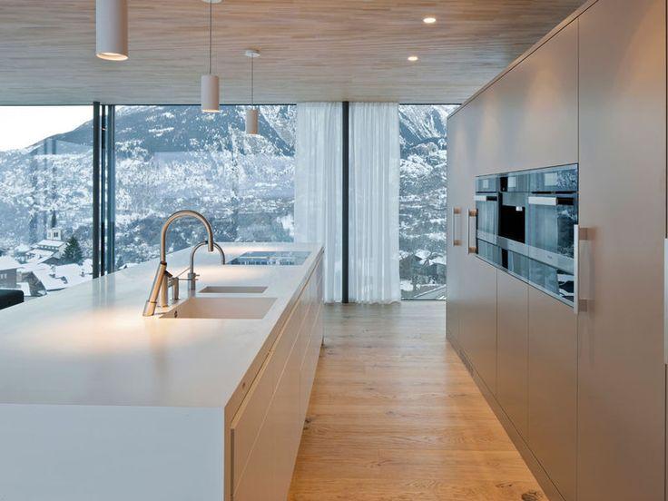 Una casa eficiente en la nieve
