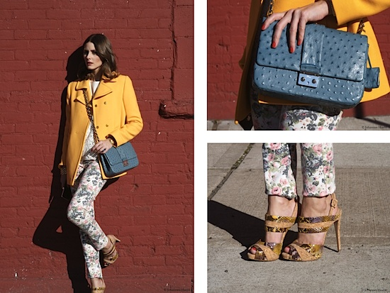ahh floral print pants... welcome back from the 90's. <3 this combo of pastel and bright yellow